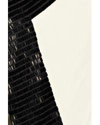 Amanda Wakeley | Black Bead-trimmed Silk-cady One-shoulder Gown | Lyst