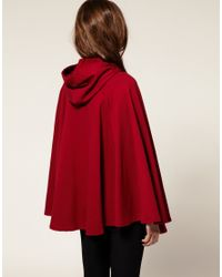 American Apparel - Red Fleece Cape - Lyst