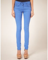 ASOS Collection | Cornflower Blue Candy Skinny Jeans | Lyst
