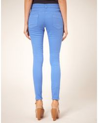 ASOS Collection - Cornflower Blue Candy Skinny Jeans - Lyst