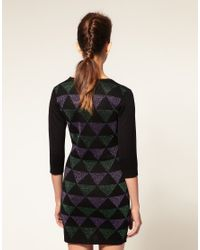 ASOS Collection - Multicolor Asos Petite Knitted Bodycon Dress with Metallic Geo Pattern - Lyst