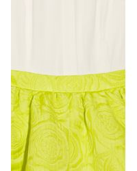Camilla & Marc | White Cylinder Crepe and Jacquard Dress | Lyst