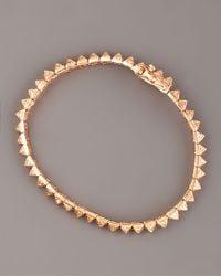 Eddie Borgo - Pink Pave Crystal Pyramid Tennis Bracelet - Lyst