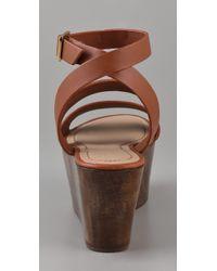 Elizabeth and James | Brown Bax Flatform Wedge Sandals | Lyst