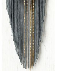 Free People | Gray Ombre Fringe & Chain Necklace | Lyst