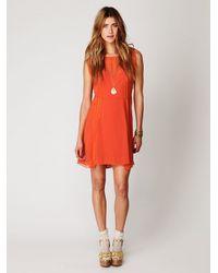 Free People - Orange Short Sleeved 20s Flapper Dress - Lyst