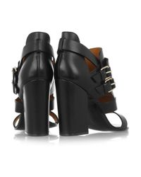Givenchy - Black Buckled Leather Sandals - Lyst