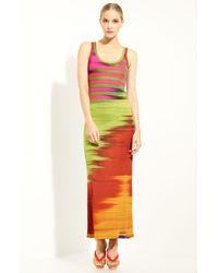 Jean Paul Gaultier | Orange Print Jersey Tank Dress | Lyst