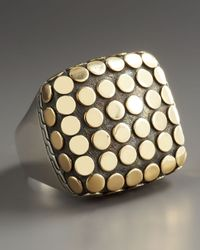 John Hardy - Metallic Dot Square Ring - Lyst