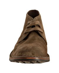 John Varvatos - Brown Sepia Suede Hipster Chukka Boots for Men - Lyst
