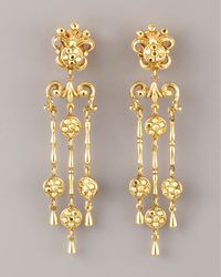 Jose & Maria Barrera - Metallic Filigree Drop Earrings - Lyst