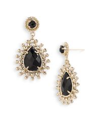 Kendra Scott | Black Linden Teardrop Earrings | Lyst