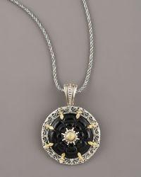 Konstantino - Black Iris Onyx Pendant - Lyst