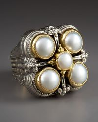 Konstantino - White Five-pearl Ring - Lyst
