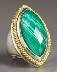 Lagos | Green Malachite Ring, Large | Lyst