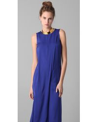 M Missoni | Blue Asymmetrical Jumpsuit | Lyst
