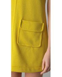M Missoni - Yellow Sleeveless Pique Shift Dress - Lyst