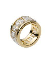 Michael Kors - Metallic Crystal Band Ring - Lyst