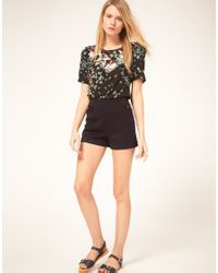 Oasis | Black Shorts With Front Pockets | Lyst