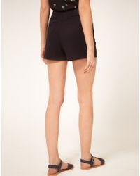 Oasis - Black Shorts With Front Pockets - Lyst