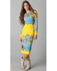 Preen By Thornton Bregazzi | Yellow Scuba Midi Dress | Lyst