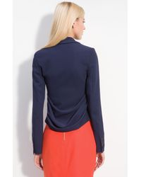 Rachel Roy | Blue Draped Back Blazer | Lyst