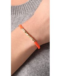 Shashi - Orange Neon Nugget Bracelet - Lyst