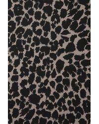 Topshop | Brown Animal Drape Front Blouse | Lyst