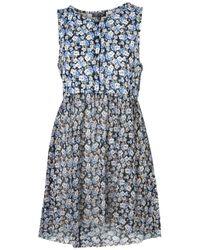 TOPSHOP | Blue Petite Gingham Smock Dress | Lyst
