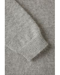 TOPSHOP - Gray Knitted Fluffy Ballet Wrap - Lyst