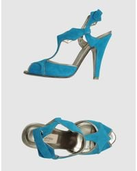 Valentino   Blue Highheeled Sandals   Lyst