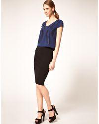 Very By Vero Moda - Black Vero Moda Very Knitted Midi Pencil Skirt - Lyst