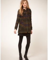 Whistles - Multicolor 70s Check Duffle Coat - Lyst
