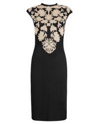 Alexander McQueen | Black Floral Print Dress | Lyst