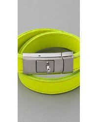 CC SKYE - Yellow Portico Bracelet - Lyst
