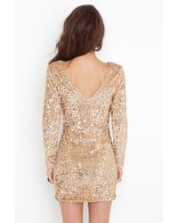 Nasty Gal | Metallic Gabby Sequin Dress | Lyst