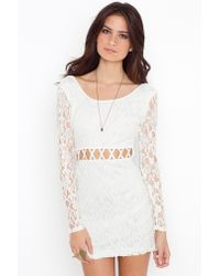 Nasty Gal | White All Or Next To Nothing Lace Dress | Lyst