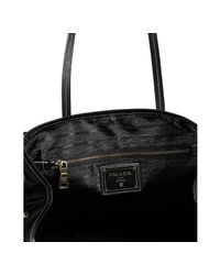 Prada | Black Nylon Shopping Tote | Lyst