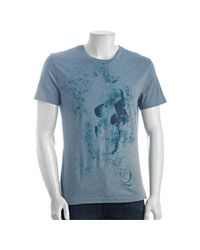 Alexander McQueen | Light Blue Cotton Splatter Skull Crewneck T-shirt for Men | Lyst