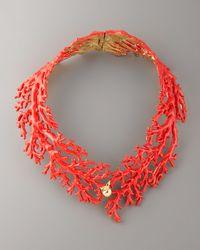 Aurelie Bidermann - Red Enamel Coral Choker Necklace - Lyst
