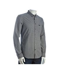 Burberry | Gray Brit Ink Gingham Print Cotton Long Sleeve Shirt for Men | Lyst