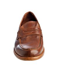 Gordon Rush - Brown Leather Shepard Penny Loafers for Men - Lyst