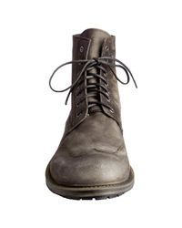Mark Nason | Rock Lives Dark Brown Washed Suede Longrain Boots for Men | Lyst