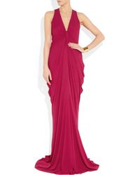 Alexander McQueen - Gathered Crepe Gown - Lyst