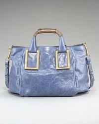 Chloé | Blue Ethel Satchel, Medium | Lyst