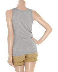 INHABIT | Gray Fine-knit Cotton Tank | Lyst