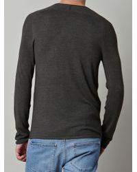 John Varvatos | Gray Wool and Silk Jumper for Men | Lyst