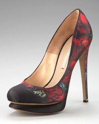 Nicholas Kirkwood | Multicolor Floral-print Satin Pump | Lyst