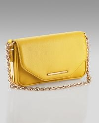 Rachel Zoe - Yellow Charlotte Leather Clutch - Lyst