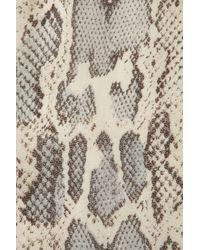 Topshop   Pink Snake Panel Short Sleeve Tee   Lyst